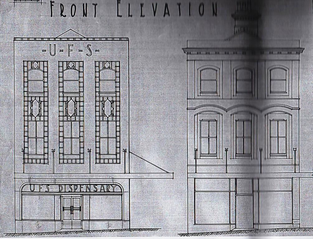 Architects Drawings Regarding The Work Dated 1940 Here Is A Before And After Elevation Showing Replacement Of Victorian Details With Deco