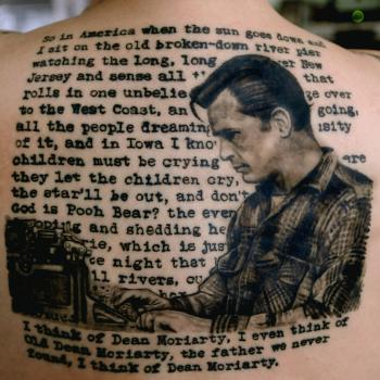 (Photograph: Tess Adamski's Jack Kerouac tattoo, by Thor at Yonge Street